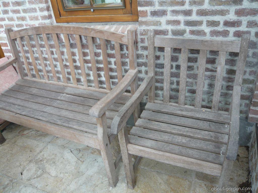 Týkové dřevo, zahradní nábytek (Tectona grandis)